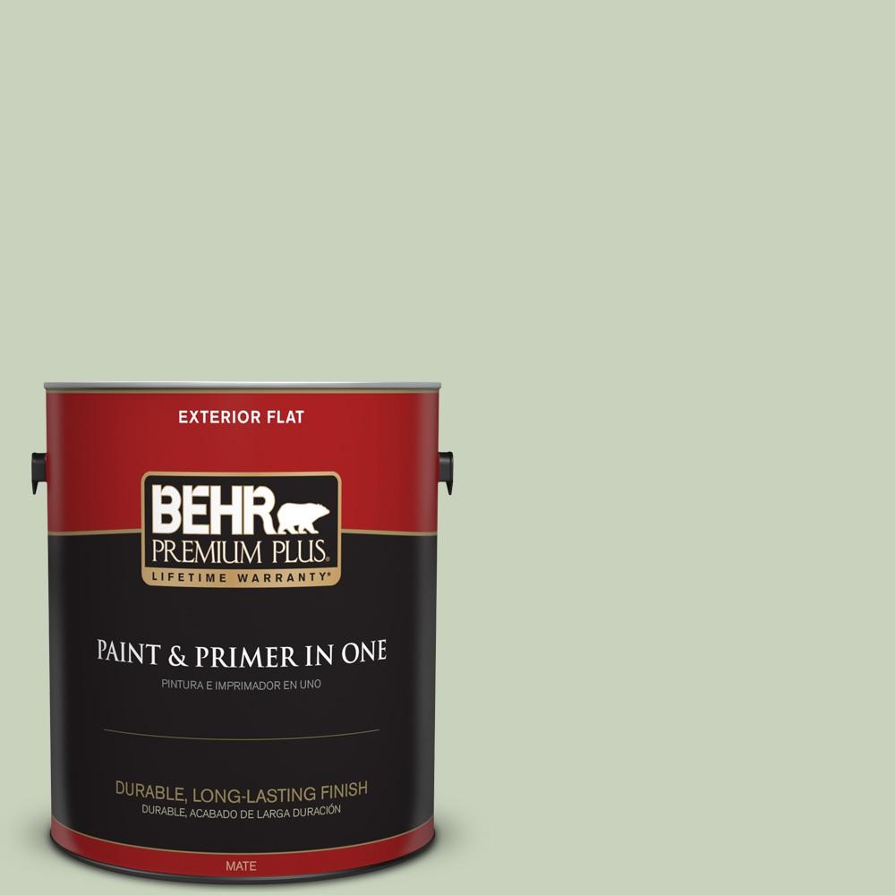 1 gal. #PPU10-09 Chinese Jade Flat Exterior Paint