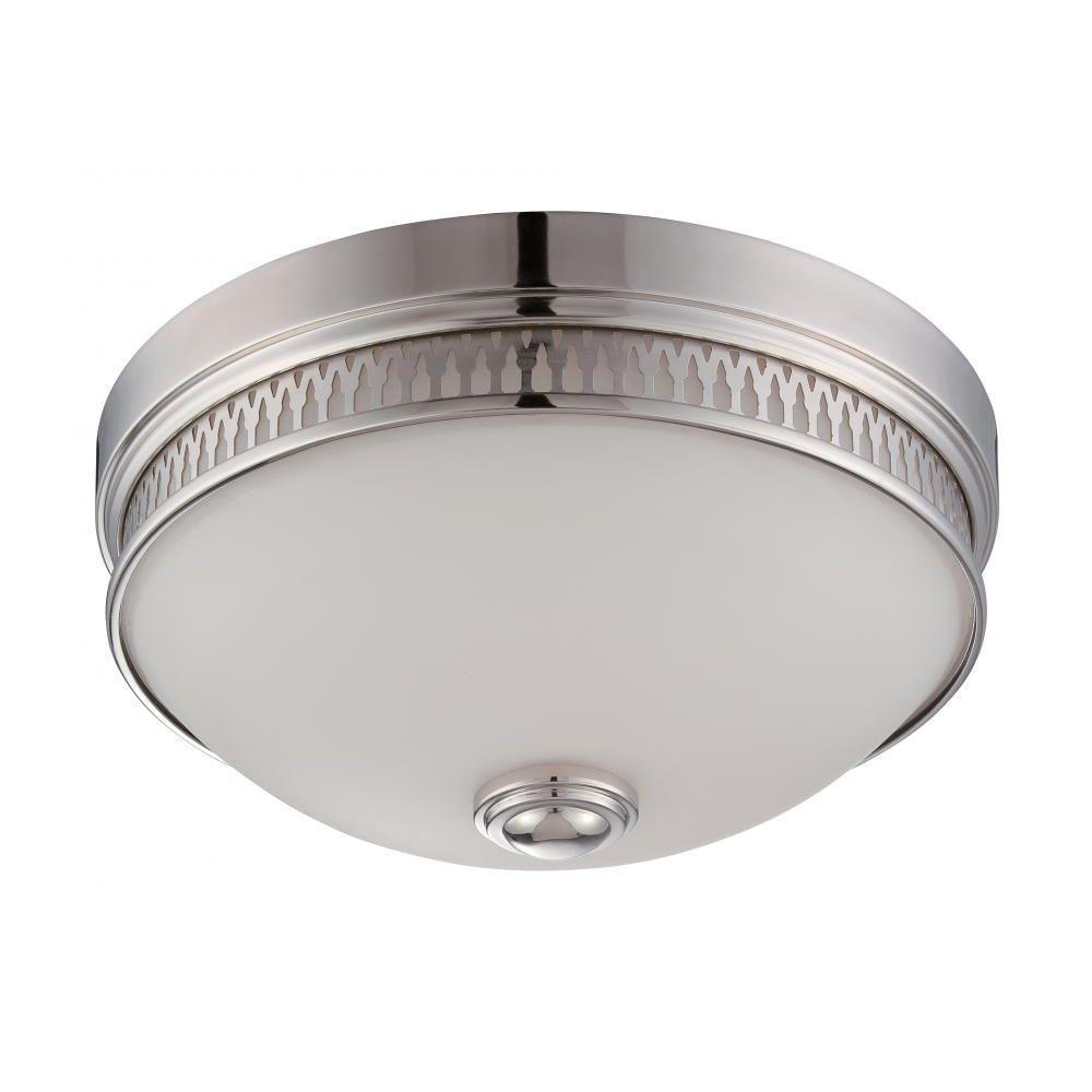 Elisa 1-Light Polished Nickel Flush Mount