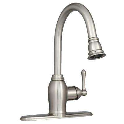 Metro Collection European Flair Single-Handle Pull-Out Sprayer Kitchen Faucet in Brushed Nickel