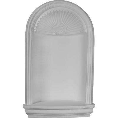 27-3/8 in. x 11-3/4 in. x 45-1/4 in. Primed Polyurethane Recessed Mount Edwards Wall Niche