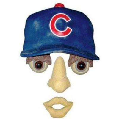 14 in. x 7 in. Forest Face Chicago Cubs