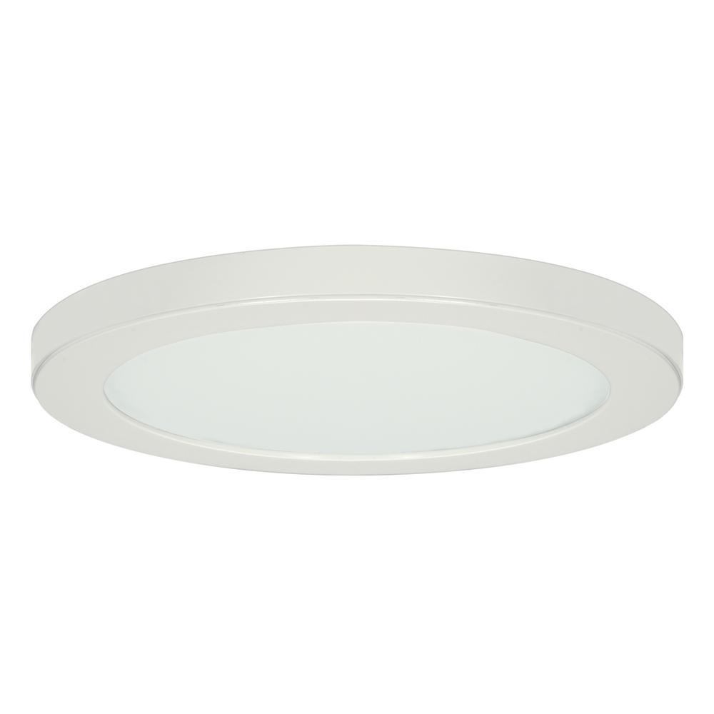 13 in. 25-Watt White Integrated LED Flush Mount