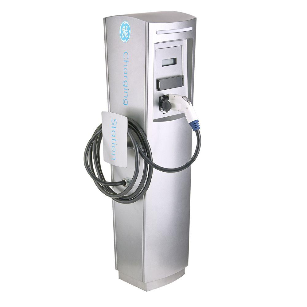 GE EV Charger Single Pedestal DuraStation with RFID Access Control