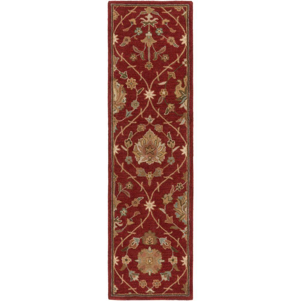 Middleton Alexandra Red 2 ft. 3 in. x 12 ft. Indoor