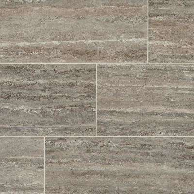 Stonehollow Smoky Taupe 12 in. x 24 in. Glazed Porcelain Floor and Wall Tile (15.6 sq. ft. / case)