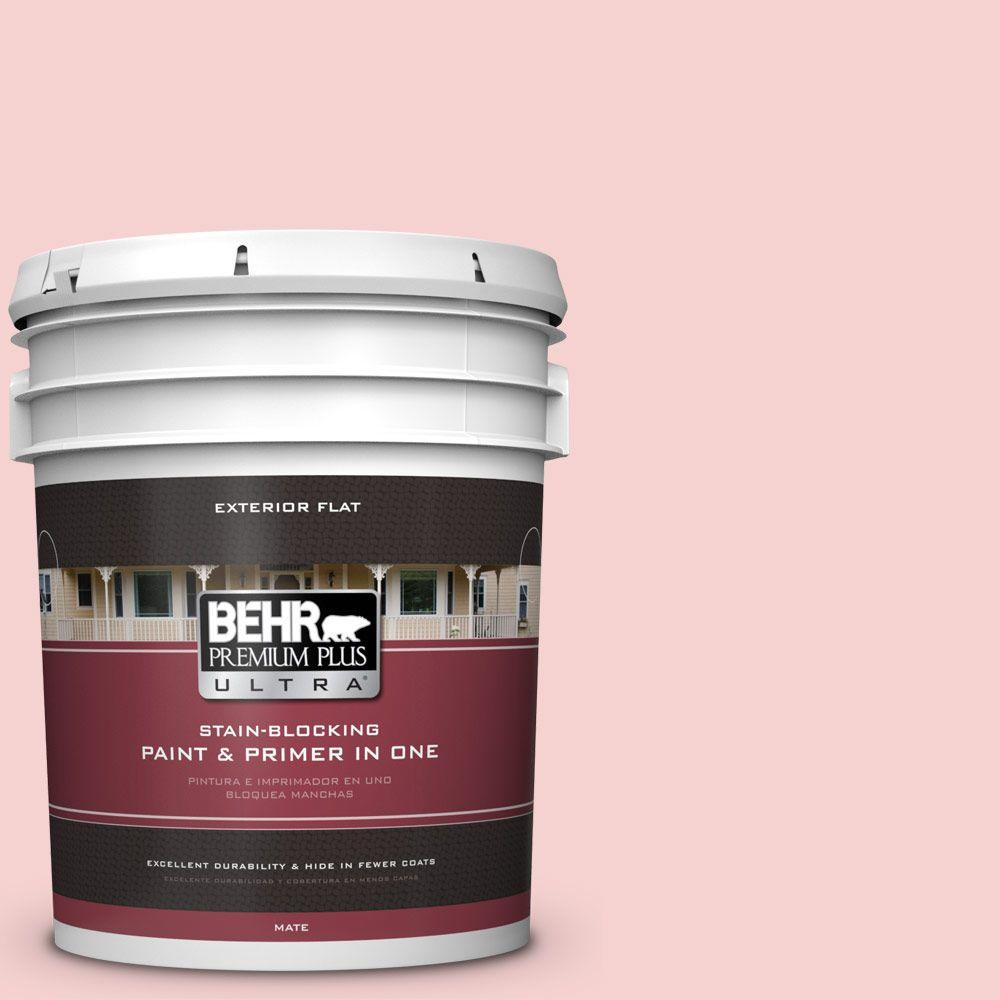 BEHR Premium Plus Ultra 5-gal. #P170-1 Youth Blush Flat Exterior Paint