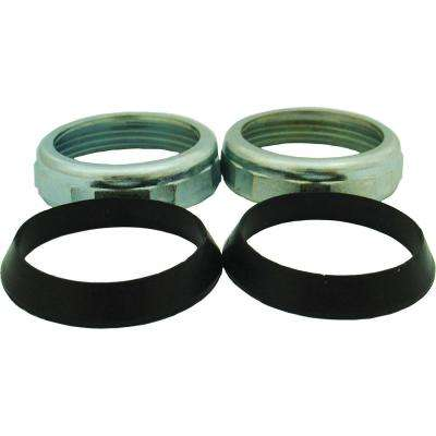 1-1/2 in. X 1-1/2 in. in Chrome Finish Slip Joint Nut