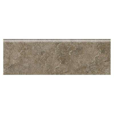 Heathland Sage 2 in. x 6 in. Glazed Ceramic Bullnose Wall Tile