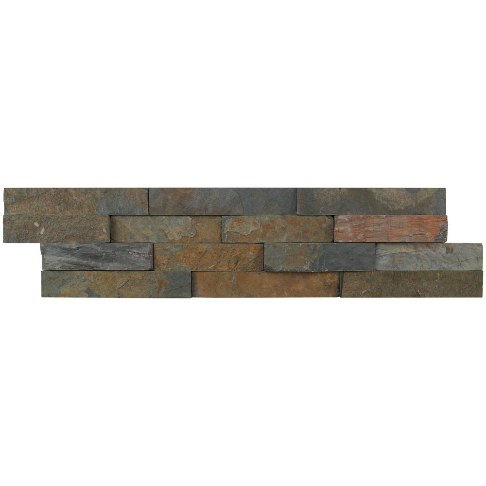 "Store Pickup Only California Gold Ledger Panel 6/""x24/"" Quartzite Slate Wall Tile"