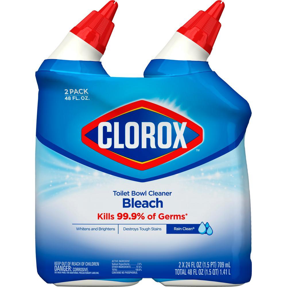 Clorox 24. oz. Rain Clean Toilet Bowl Cleaner with Bleach (2-Pack)