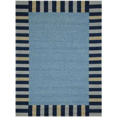 Pizazz Slate Blue 8 ft. x 11 ft. Rectangle Area Rug
