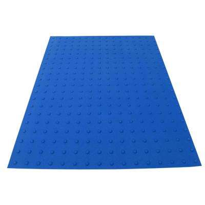 PowerBond 36 in. x 4 ft. Blue ADA Warning Mat (Peel and Stick)