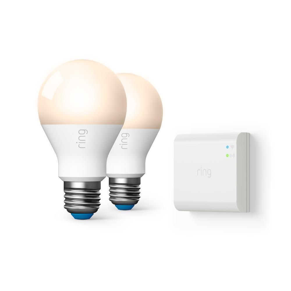 60-Watt Equivalent A19 LED Smart Light Bulb with Bridge (2-Pack)