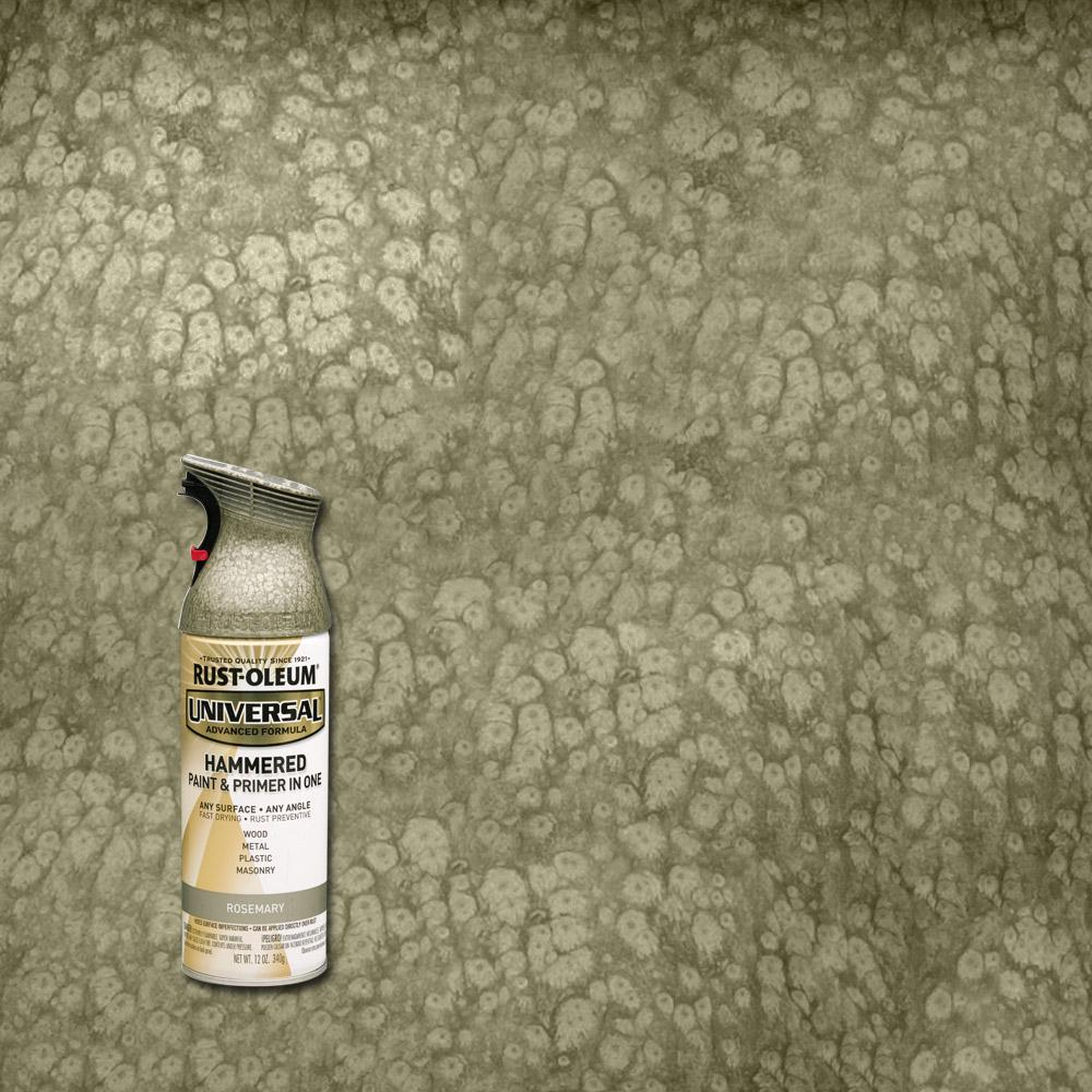 Rust oleum universal 12 oz all surface hammered rosemary for Spray paint for furniture home depot