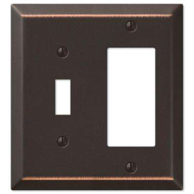 Century Steel 1 Toggle 1 Decora Wall Plate - Aged Bronze