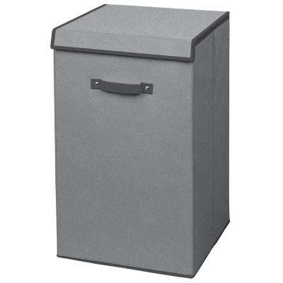 Gray Non Woven Collapsible Laundry Hamper