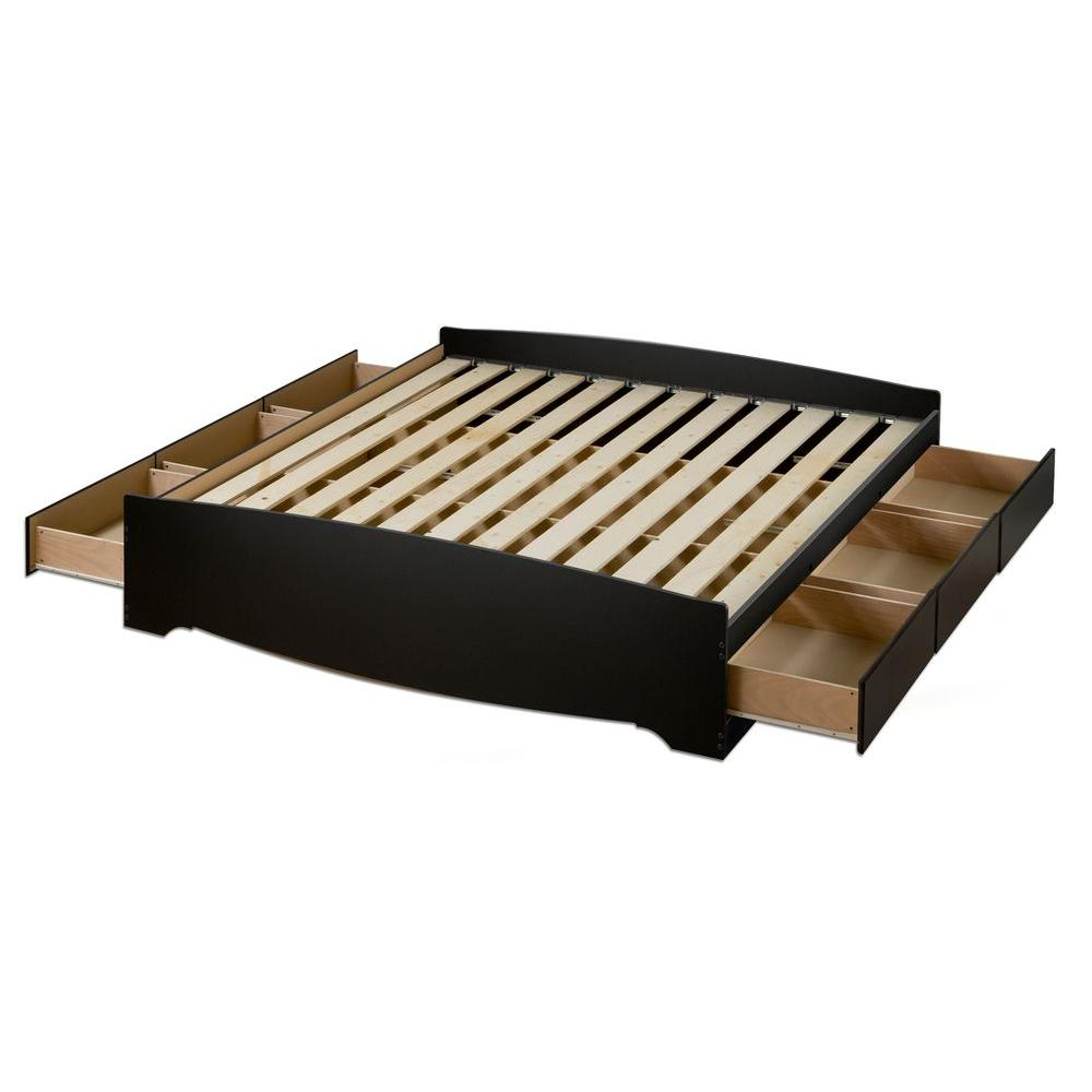 Prepac Sonoma Queen Wood Storage Bed Bbq 6200 3k The Home Depot