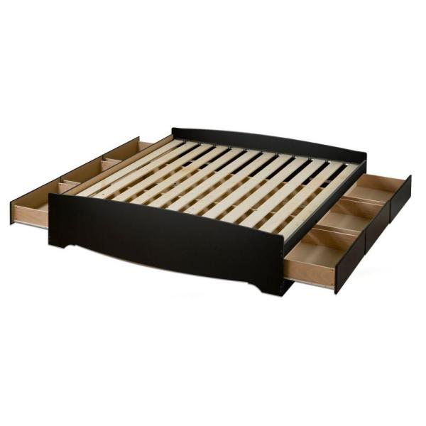 8c05a3e73f Prepac Sonoma Queen Wood Storage Bed BBQ-6200-3K - The Home Depot