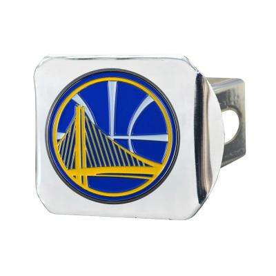 NBA Golden State Warriors Color Emblem on Chrome Hitch Cover