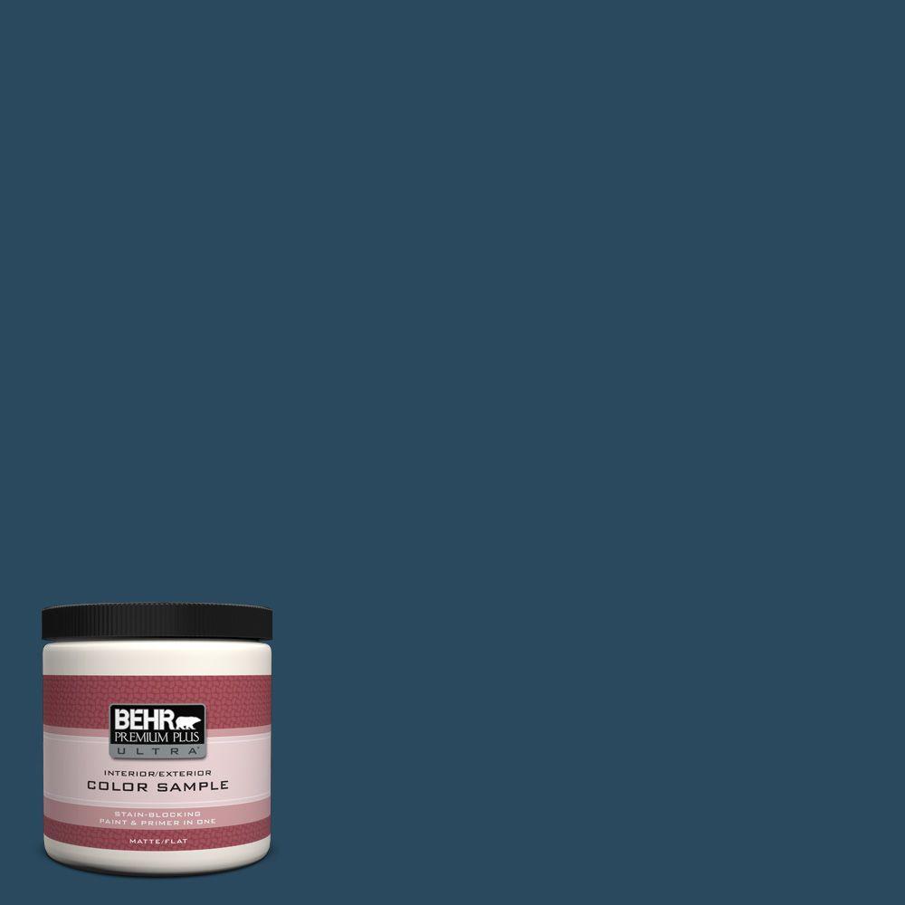 BEHR Premium Plus Ultra 8 oz. #570D-7 Nocturnal Sea Interior/Exterior Paint Sample