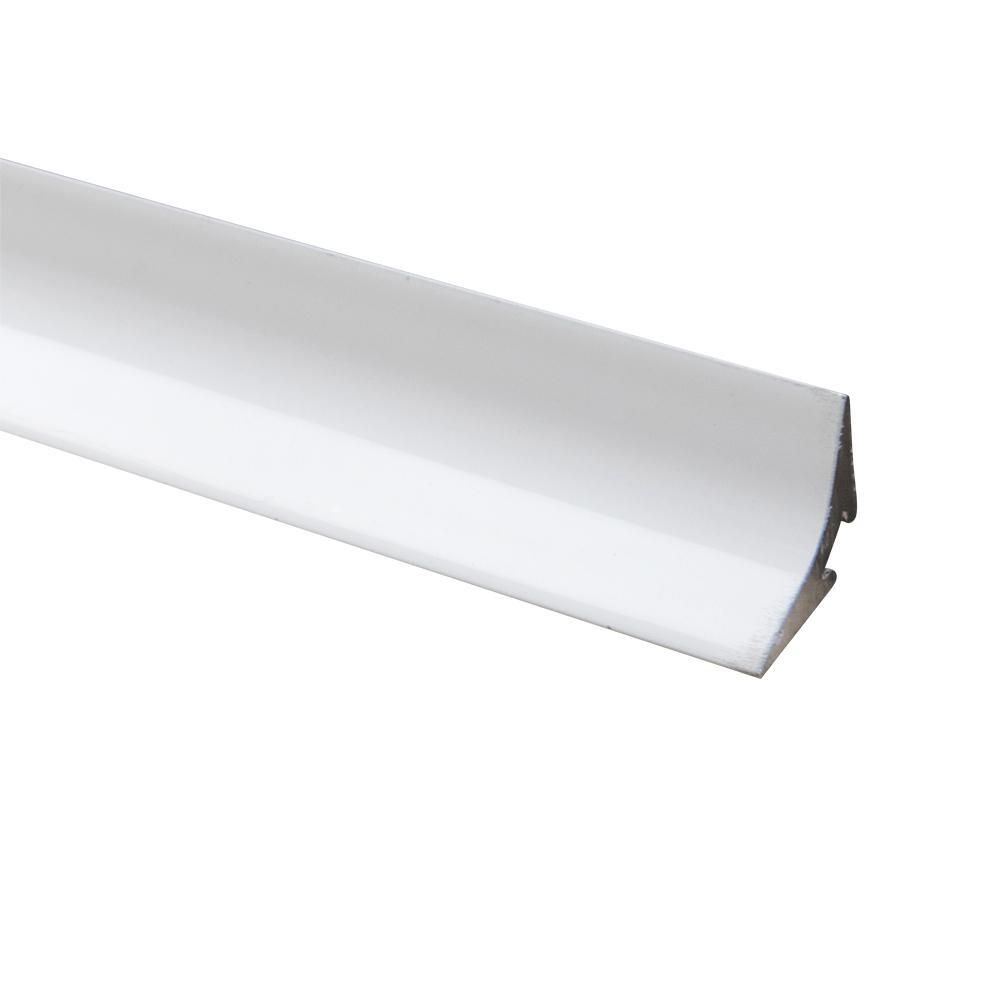 Novoescocia 4 Mini Antib. Matt White 7/16 in. x 98-1/2 in. Aluminum Tile Edging Trim