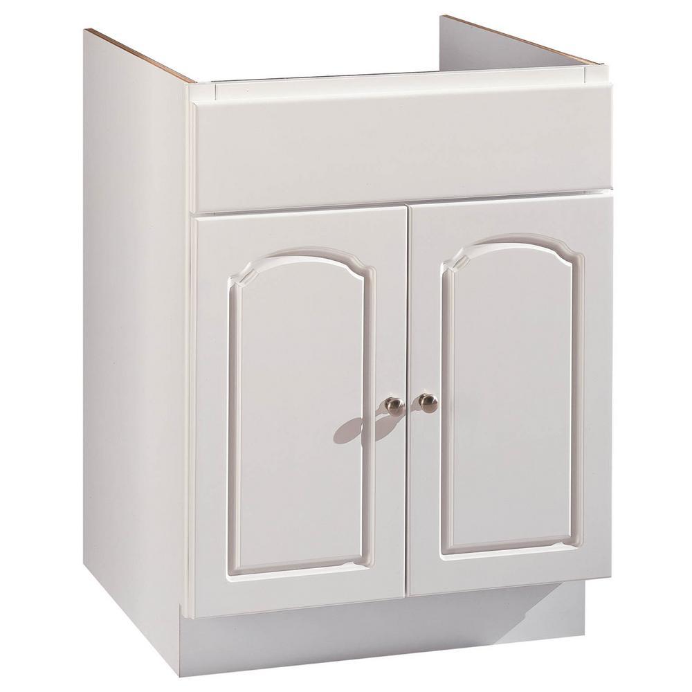 24 in. W 2-Door Bathroom Vanity Cabinet Only in White Aspen Finish