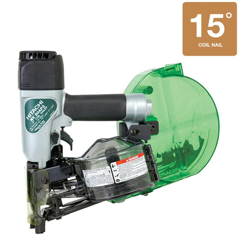 Hitachi 2 in. Wire Coil Cap Nailer for 7/8 in. - 2 in. 15 Degree Wire Coil Nails
