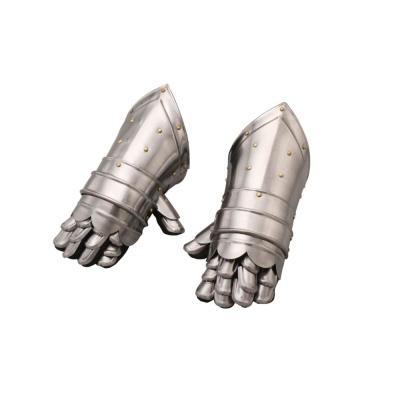 Armor Silver Metal Hand Glove (Set of 2)
