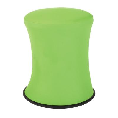 """18""""-26"""" Active Height Stool with White Frame and Green Fabric"""
