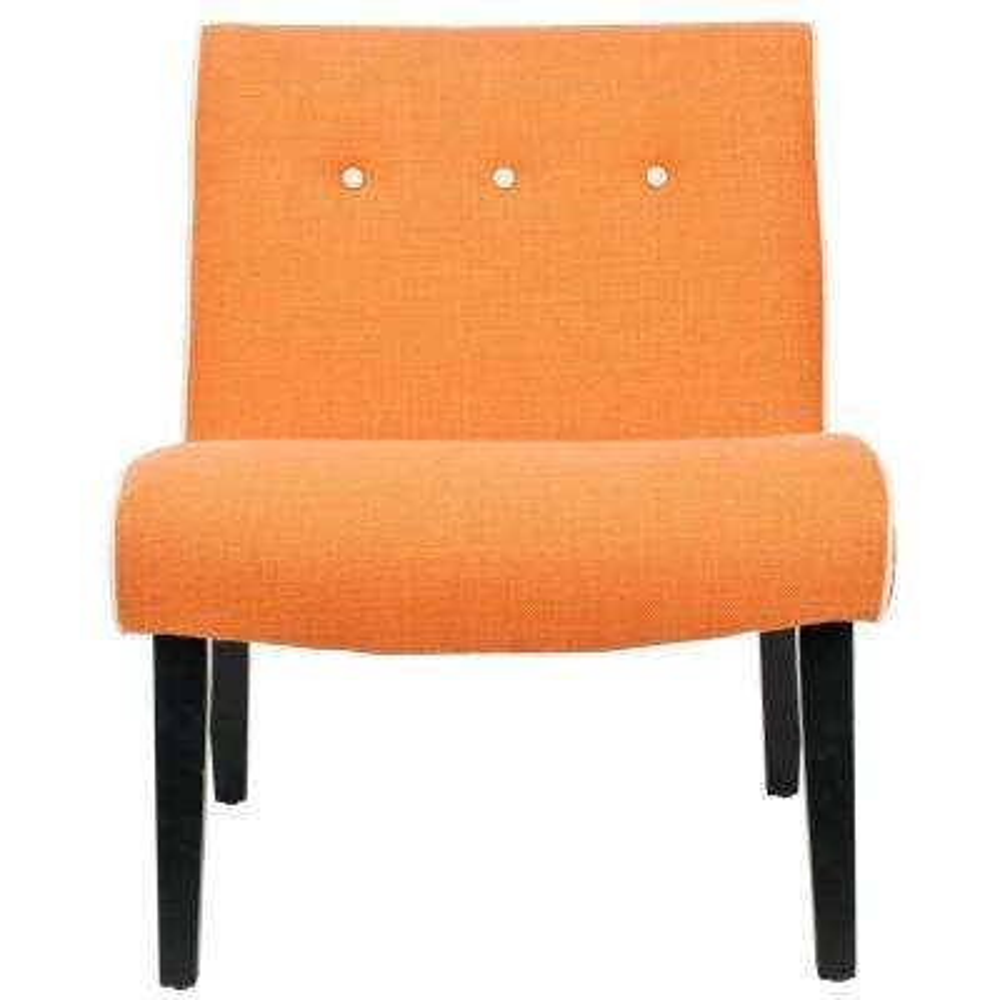 Mandell Orange Linen Blend Accent Chair