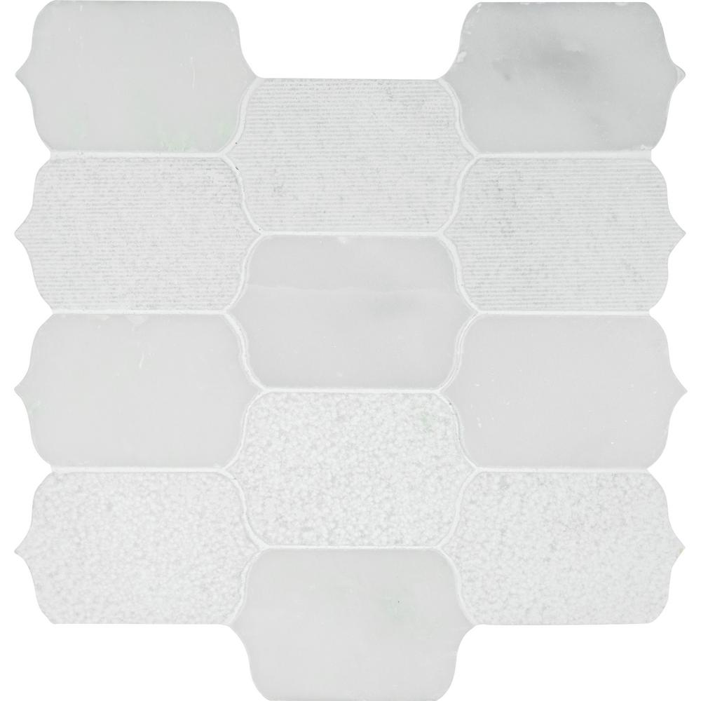 how to tile floor in bathroom ms international calypso blanco lotus pattern 12 in x 12 25523