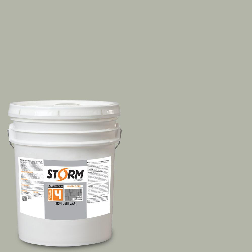 Storm System Category 4 5 gal. Granite State Matte Exterior Wood Siding 100% Acrylic Stain