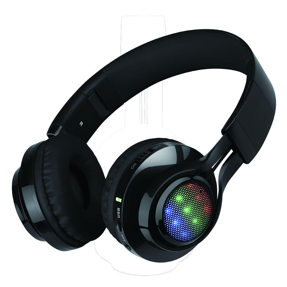 Bluetooth Wireless Foldable Headphones With Mic And Remote Control Black H027 Bk The Home Depot