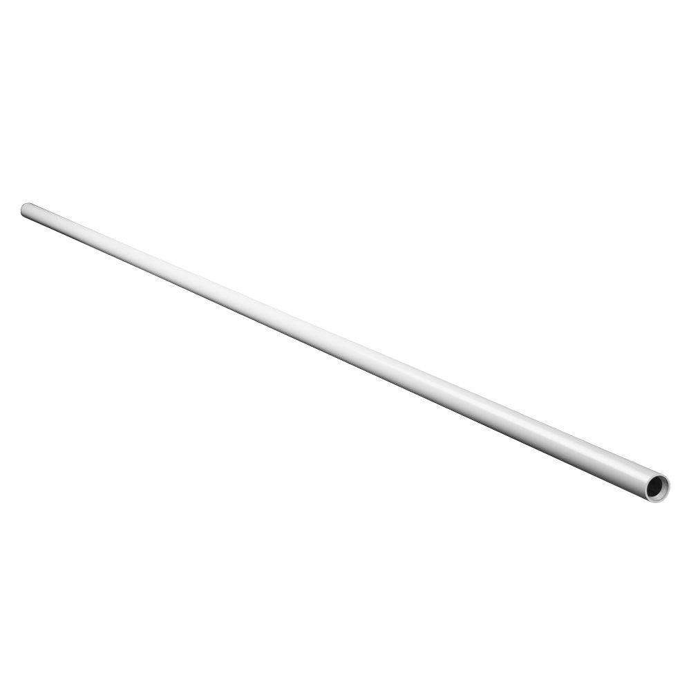 Veranda 1-1/2 in. x 104 in. Vinyl White Round Handrail Section
