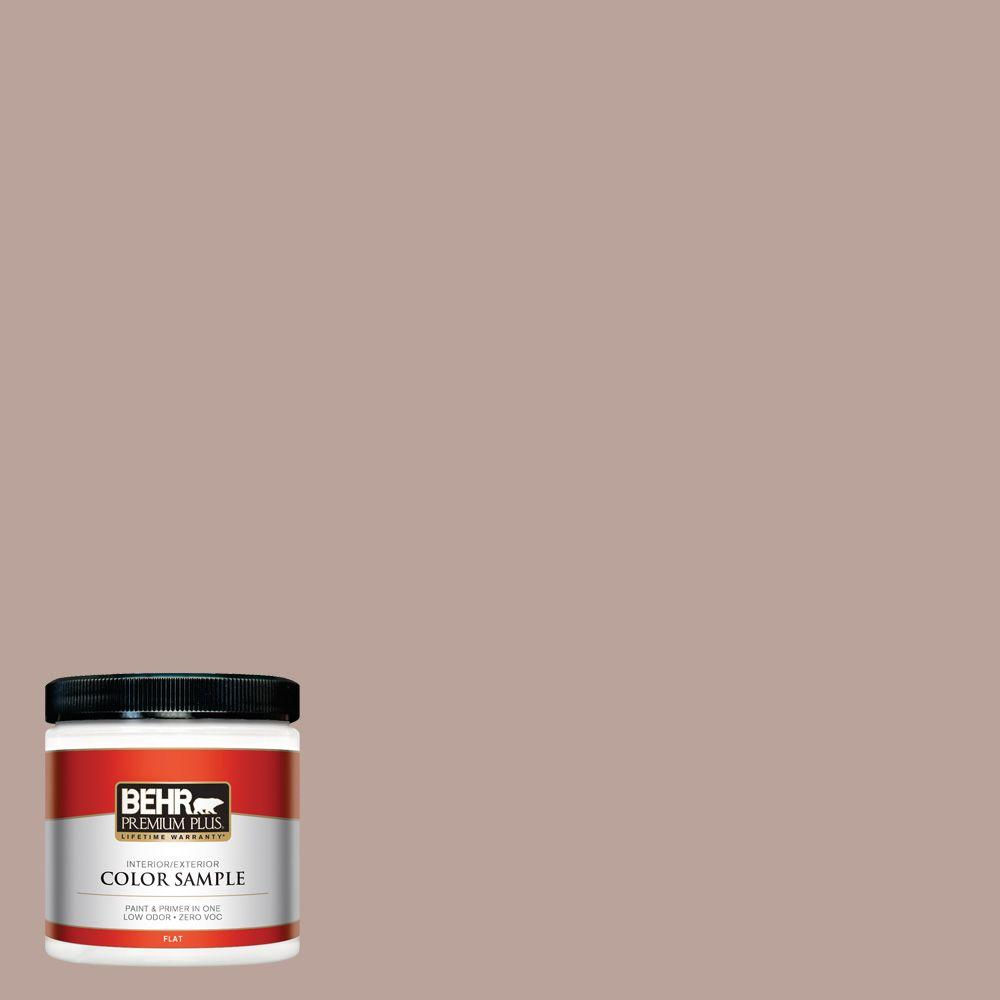 BEHR Premium Plus 8 oz. #N150-3 Cocoa Craving Interior/Exterior Paint Sample