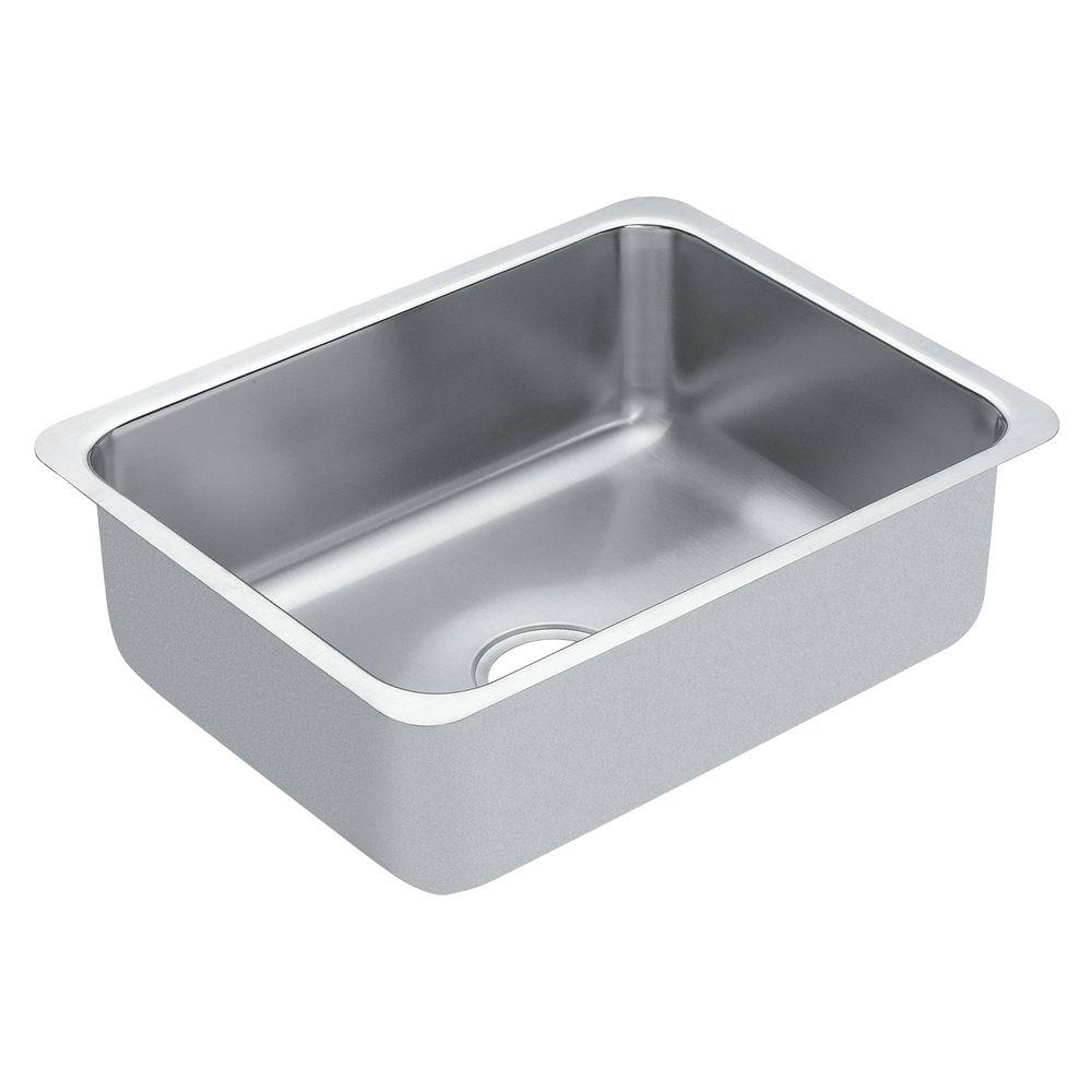 moen stainless steel kitchen sinks moen 1800 series undermount stainless steel 18 in single 9286
