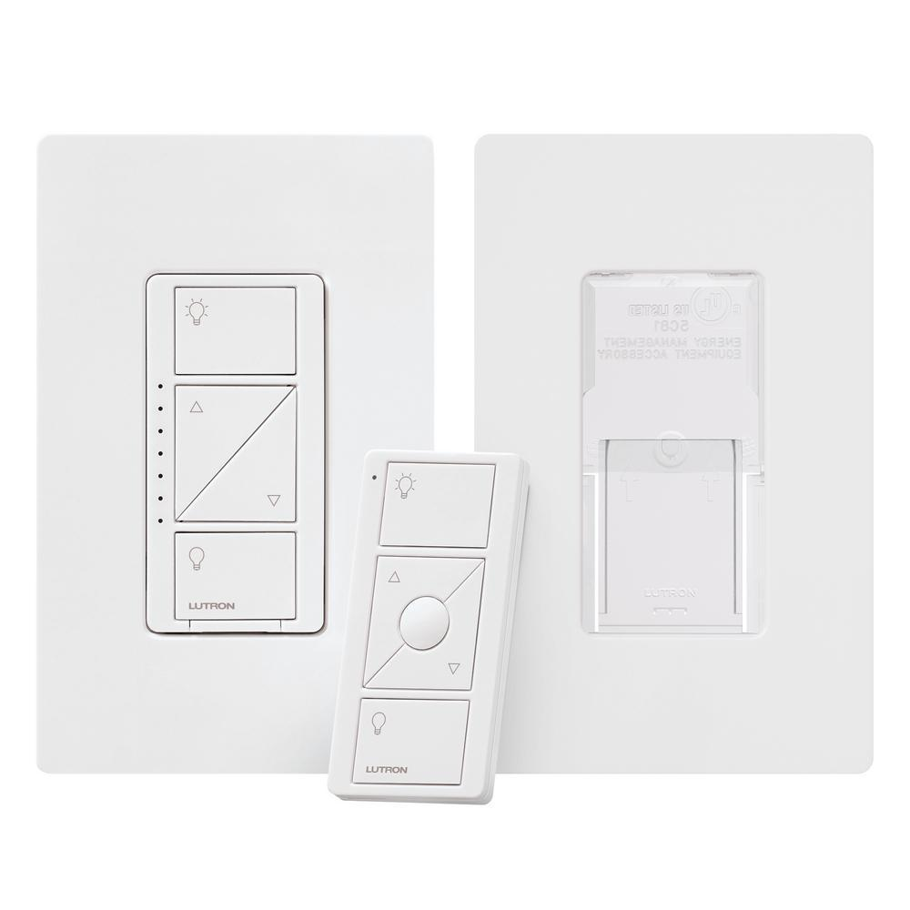 Lutron Caseta Wireless Smart Lighting Dimmer Switch and Pico Remote 3-Way Mounting Kit