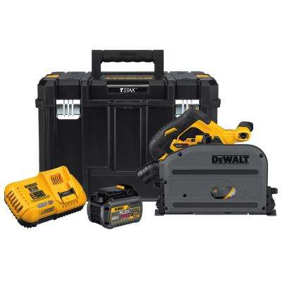 FLEXVOLT 60-Volt MAX Lithium-Ion Cordless Brushless 6-1/2 in. Track Saw Kit with Battery 2Ah, Charger and Case