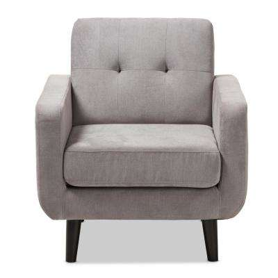 Carina Light Gray Fabric Upholstered Lounge Chair