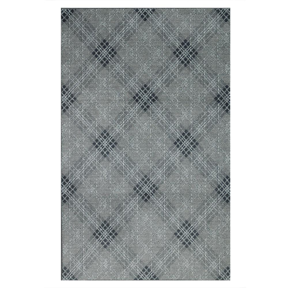 Mohawk Home Russell Plaid Gray 8 Ft X 10 Ft Area Rug 034670 The Home Depot