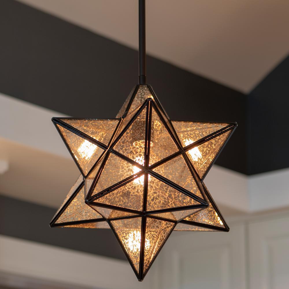 Bronze coloured Star pendant x 100