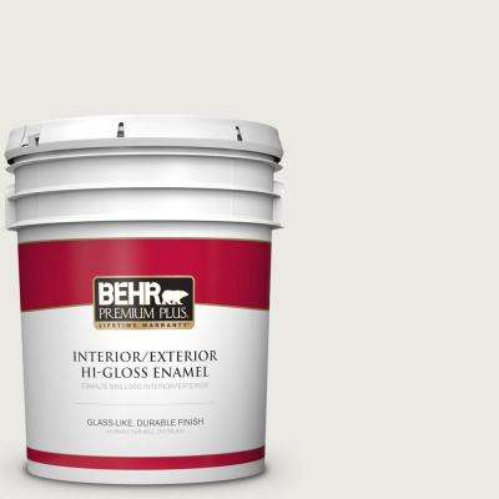 5 gal. #PPU24-14 White Moderne Hi-Gloss Enamel Interior/Exterior Paint