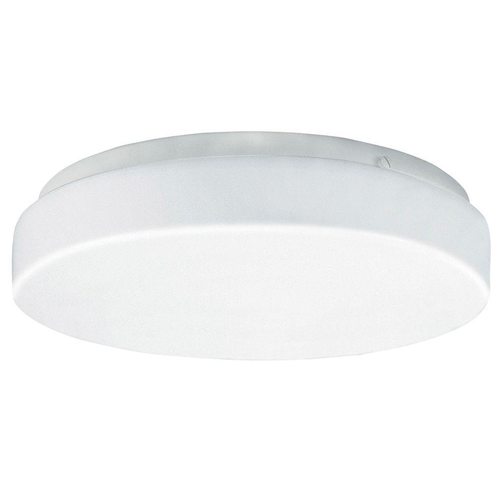 Aspects 1-Light White LED Multi-Use Flushmount with Drum Light