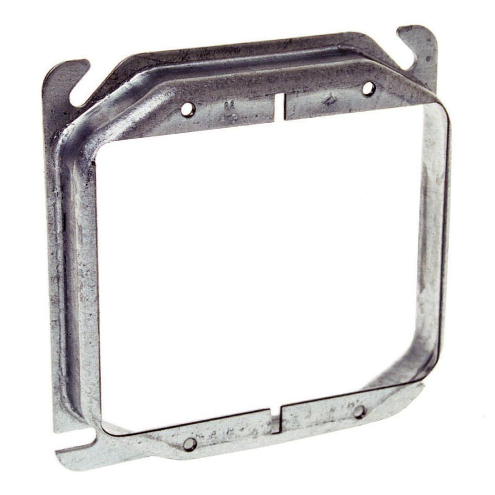 4 in. Square 2-Device Mud Ring with 1 in. Raised (10-Pack)