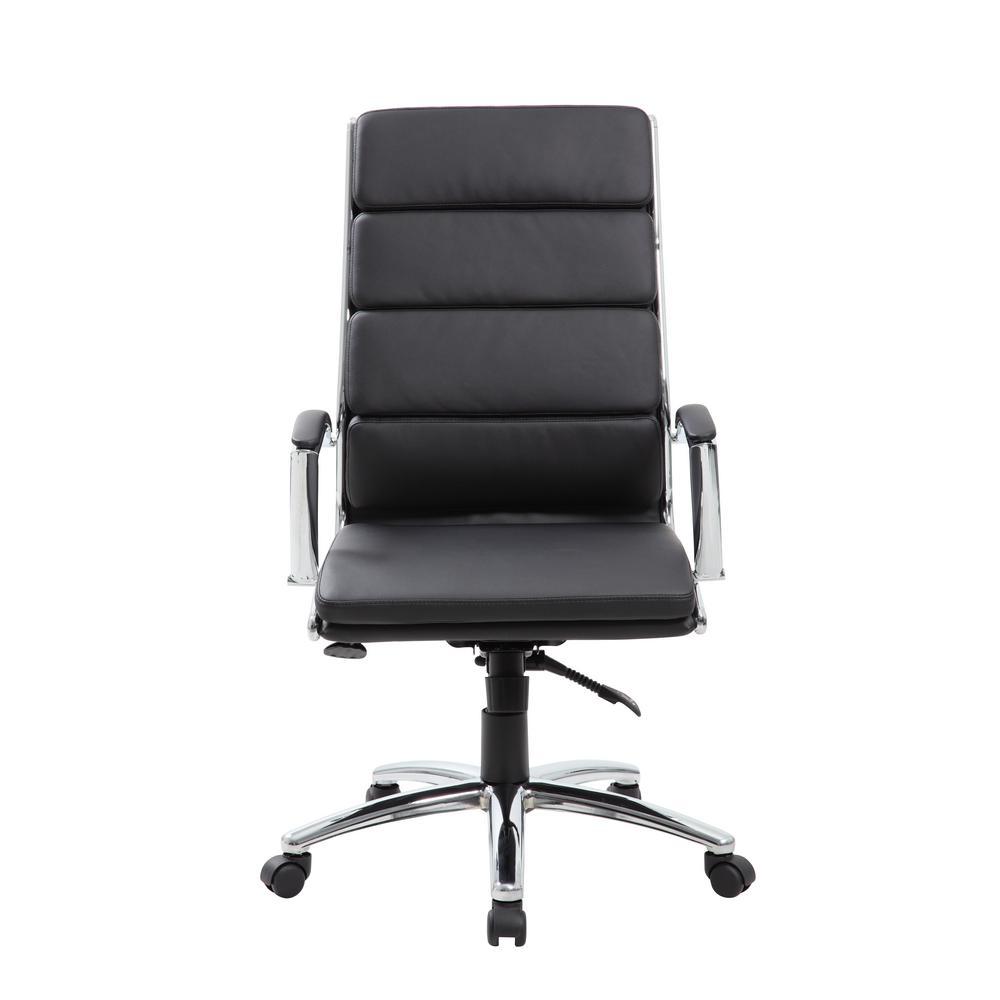 Boss Office Black Contemporary High Back Executive Desk Chair B9471 Bk The Home Depot