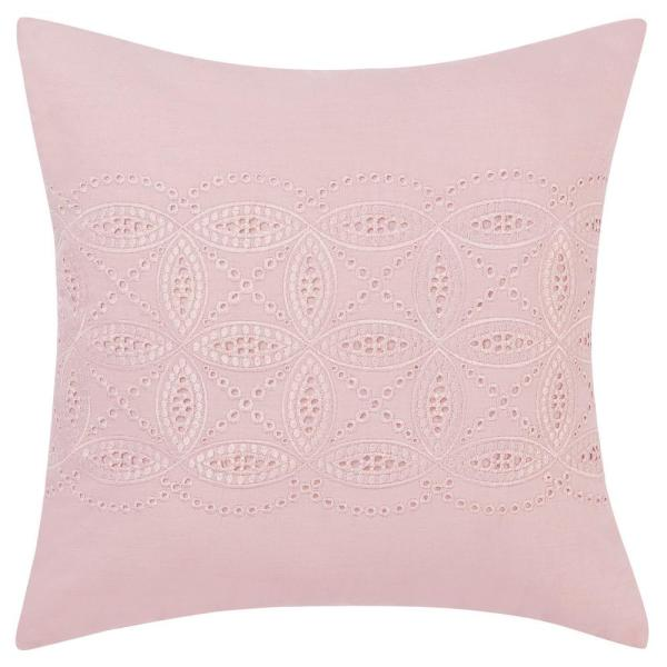 16 in. x 16 in. Annabella Pink Throw Pillow