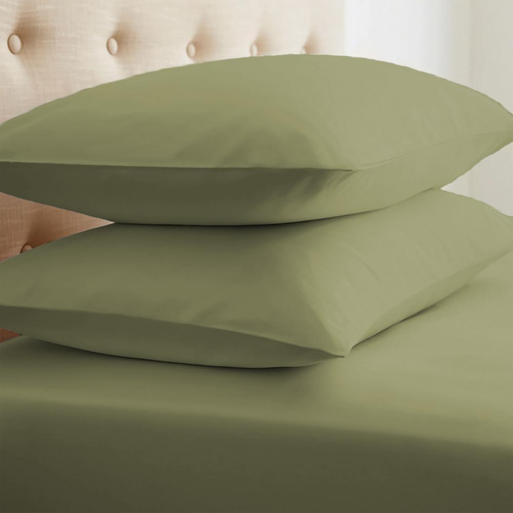 Performance Sage Standard 2-Piece Pillow Case Set