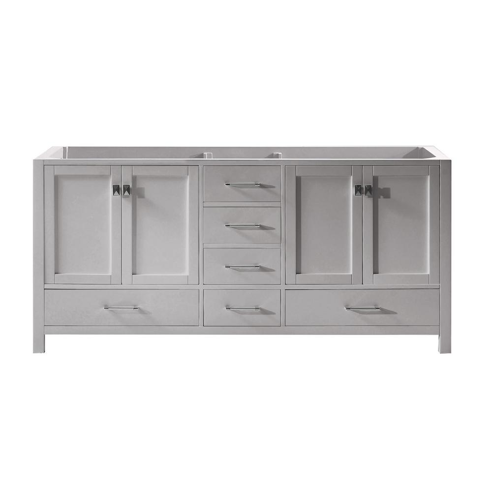 Virtu USA Caroline Avenue 72 in. W Bath Vanity Cabinet Only in Cashmere Gray