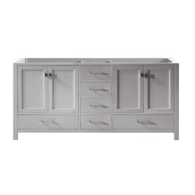 Caroline Avenue 72 in. W Bath Vanity Cabinet Only in Cashmere Gray