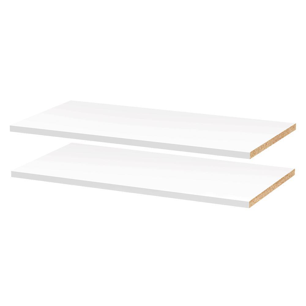 modifi 28 5 8 in w x 0 75 in h x 14 3 8 in d melamine adjustable shelf in polar white 2 pack rh homedepot com